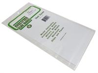 """Evergreen Plastics EG4517 12"""" x 6"""" Pavement tile sheet 3/8"""" squares"""