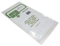 """Evergreen Plastics EG4543 12"""" x 6"""" Board & Batten sheet 2.5mm spacing"""