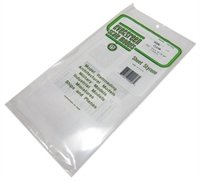 "Evergreen Plastics EG9006 12"" x 6"" Clear sheets 0.010"" thickness 2 per pack"