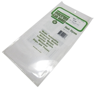 "Evergreen Plastics EG9007 12"" x 6"" Clear sheets .015"" thickness 2 per pack"