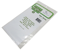 "Evergreen Plastics EG9008 12"" x 6"" Sheets 0.010"" 0.020"" 0.040"" thickness - 1 of each"