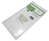 "Evergreen Plastics EG9009 12"" x 6"" Sheets .005"" thickness 3 per pack"