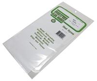 "Evergreen Plastics EG9010 12"" x 6"" Sheets .010"" thickness 3 per pack"