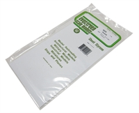 "Evergreen Plastics EG9020 12"" x 6"" Sheets .020"" thickness 3 per pack"