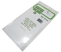 "Evergreen Plastics EG9030 12"" x 6"" Sheets 0.030"" thickness 2 per pack"