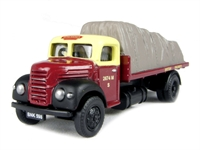 "Pocketbond ""Classix"" EM76302 Ford Thames ET6 flatbed with sheeted load in ""British Railways"" livery"