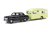 "Pocketbond ""Classix"" EM76514 Ford Consul Mk1 and Berkeley Cavalier caravan"