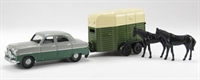 "Pocketbond ""Classix"" EM76518 Ford Zodiac and horse box with 2 horses"