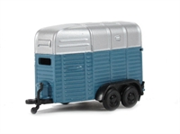 "Pocketbond ""Classix"" EM76519 Horsebox Twin Axle in mid-blue & silver"