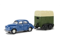 "Pocketbond ""Classix"" EM76521 Morris Minor 4-door saloon and twin-axle Cattle Trailer"