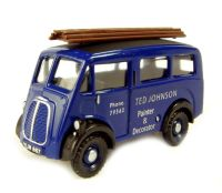 "Pocketbond ""Classix"" EM76604 Morris J van in ""Ted Johnson Painter & Decorator"" in blue livery"