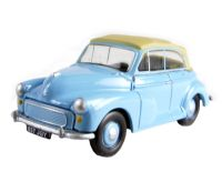 "Pocketbond ""Classix"" EM76822 Morris Minor convertible with top up in pale blue"