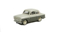 """Pocketbond """"Classix"""" EM76863 Ford Anglia 100E 2-door in beige/chocolate with white wall tyres"""