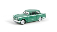 "Pocketbond ""Classix"" EM76874 Triumph Herald 1200 saloon in green with opening bonnet"
