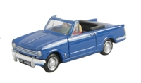 "Pocketbond ""Classix"" EM76880 Triumph Herald 13/60 convertible in blue. Hood down"