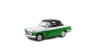 "Pocketbond ""Classix"" EM76881 Triumph Herald 12/50 convertible in green and white, hood up with opening bonnet"