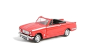 "Pocketbond ""Classix"" EM76882 Triumph Vitesse convertible in racing red, hood down with opening bonnet"