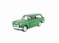 "Pocketbond ""Classix"" EM76886 Triumph Herald 1200 Estate in Green with opening bonnet"