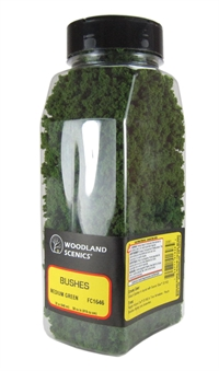 Woodland Scenics FC1646 Bushes - Medium Green