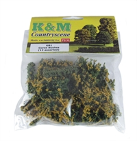 K&M Countryscene GB1 Gorse Bushes x 12 (assorted sizes)