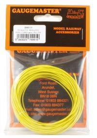Gaugemaster Controls GM11Y Wire Yellow 7 x 0.2mm 10 Metres
