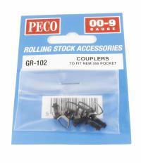 Peco Products GR-102 OO-9 NEM Coupler x 4
