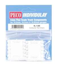 Peco Products IL-120 Conductor Rail Chairs for Code 60 rail (3rd rail) (Approx 100)