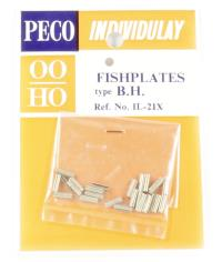 Peco Products IL-21 Fishplates, for bullhead rail, nickel silver