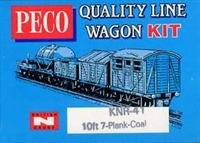 Peco Products KNR-41 7 Plank coal wagon kit