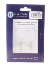 Train Tech LED4 LFX Fire LED Set (2 x Red Yellow Amber)