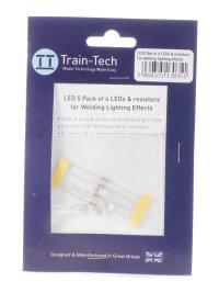 Train Tech LED5 LFX Welding LED Set (2 x Hi-Red, 2 x Hi-White)