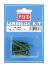 Peco Products LK-25 Platform seats - green x 12