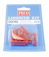 Peco Products LK-26 Platform Seats - Red x12
