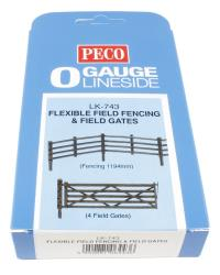 Peco Products LK-743 Flexible field fencing & gates - fencing (47in) gates (x4)