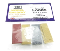 Dapol Load1 4 assorted loads (1 each sand, brick, granite & timber)