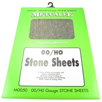 Metcalfe M0050 Sandstone-effect thick card sheets x 8. Plus 1 sheet of roofing slates