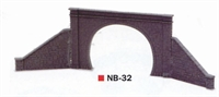 Peco Products NB-32 Pair of Tunnel Mouths and 4 Retaining Walls - Double Track