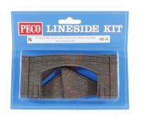 Peco Products NB-34 Road Bridge Sides, stone type, double track