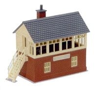 Peco Products NB-3 Signal Box Kit wood and brick type