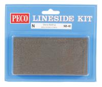 Peco Products NB-40 Stone Walling Sheets, 127mm (5in) wide x 63mm (212in) high