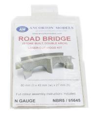 Ancorton Models NBR5 Road Bridge Two Arch Stone-built Kit (95645)