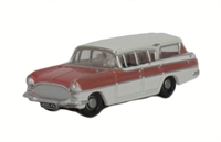Oxford Diecast NCFE001 Vauxhall PA Cresta Friary Estate in Mountain Rose/Swan White