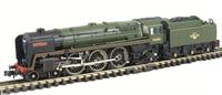 """Dapol ND095a Britannia Pacific 4-6-2 70000 """"Britannia"""" in BR Green with late crest and original smoke deflectors"""