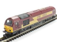 Dapol ND101FD Class 67 diesel 67024 in EWS maroon. DCC fitted