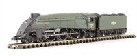 """Dapol ND128GD Class A4 steam locomotive 60005 """"Sir Charles Newton"""" in BR lined green with late crest. DCC fitted"""