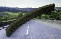 Ancorton Models NDW1c Dry stone Walling - 4 curved sections (Approx 70 x 8mm each)