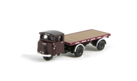 Oxford Diecast NMH009 Mechanical Horse Flatbed Trailer LMS