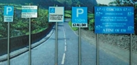 Ancorton Models NPS1 Modern Road Signs - Parking signs x5
