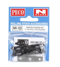 Peco Products NR-122 15ft Wheelbase steel type solebars Chassis Kit
