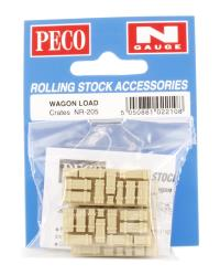Peco Products NR-205 Crates, natural/timber colour